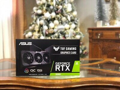 ASUS TUF GAMING GEFORCE RTX 3080 OC 10GB GDDR6X Graphics Card IN HAND