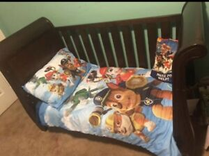 Toddler bed but can also be a crib with mattress