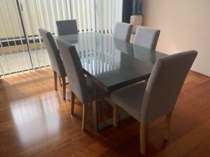 Dinning table & 8 chairs