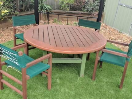 QUALITYHARDWOOD Kwila OUTDOOR SETTING Table U0026 6 Chairs Part 92