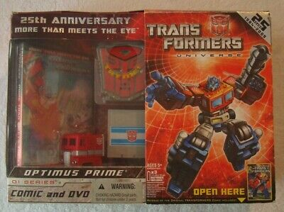 "Transformers OPTIMUS PRIME 25th Anniversary G1 Reissue 12"" Factory New MISB"