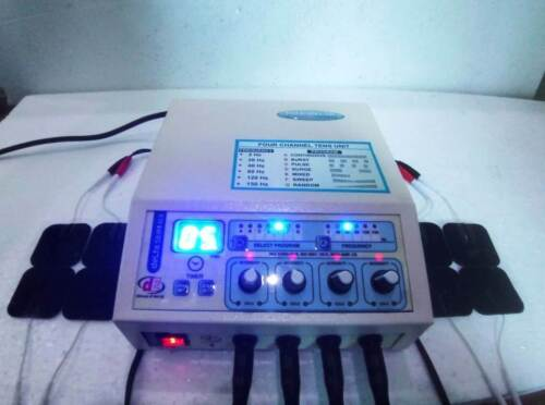 Electronic Electrotherapy 4 Channel Multi Therapy Cont. Pulsed Therapy Machine