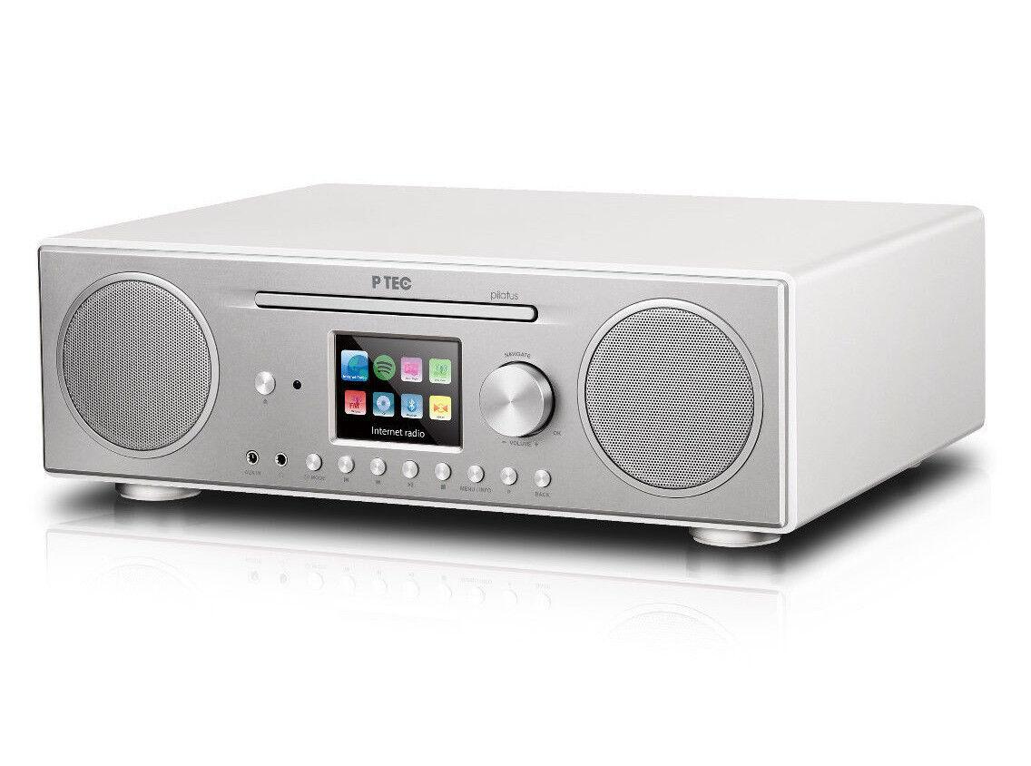 ATEMIO PTEC Pilatus Digitalradio mit CD-Player, DAB+, UKW, Internetradio,Spotify