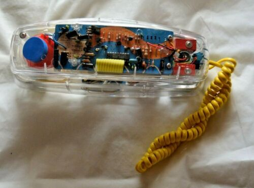 Vintage Conair Transparent Clear Corded Telephone - HAC SW205 - FREE SHIPPING!!!