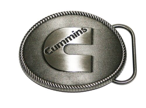 Cummins Antique Silver color Logo Diesel Truck Belt Buckle Dodge Ram NEW USA
