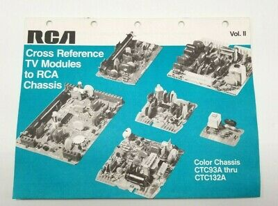 1984 RCA TV modules to Chassis Reference Brochure/Catalog/Poster VTG Advertising