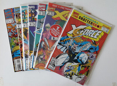 X-Force Comic Book Lot of 7 in VF/NM Condition 90's Issues w/Bagged #1