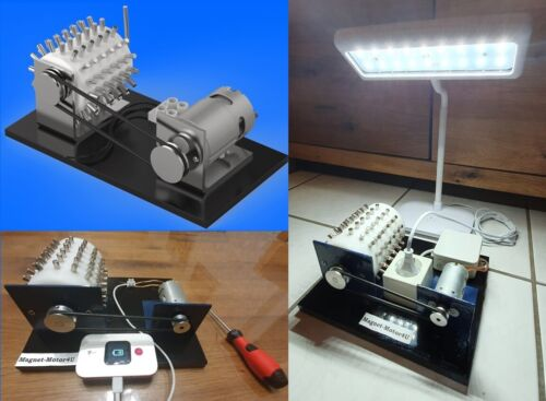 Magnetic Motor Free Energy Generator 3D Model STL STEP DWG | 3D Printer NEW 2020