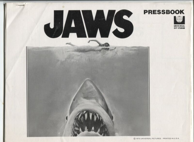 Jaws Original Movie Pressbook- 1975- Rare item VG/F