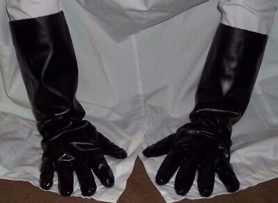 Black rubber gloves 18