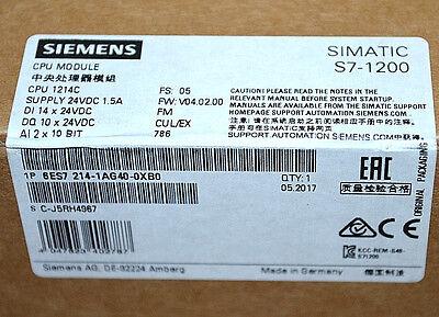 Siemens 6ES7214-1AG40-0XB0 S7-1200 CPU 1214C   NEU OVP versiegelt