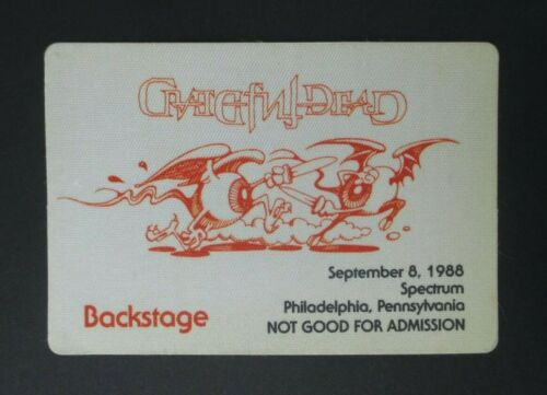 Grateful Dead Backstage Pass The Spectrum, Philadelphia, PA (9/8/88)