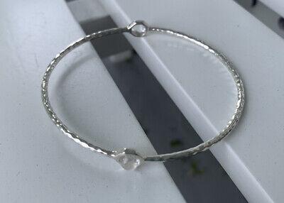 IPPOLITA Rock Candy Clear Quartz 2-stone Sterling Silver Bangle Bracelet