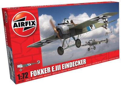 Airfix Fokker E.III Eindecker 1:72 Scale Plastic Model Plane Kit A01087