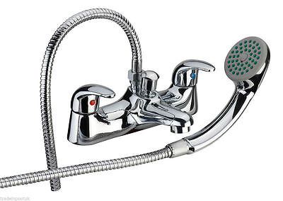 Serie 11 Low Pressure Deck Mounted Bathroom Bath Shower Mixer Tap Hand Shower