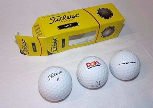 Dole Advertising Logo Golf Balls NEW Titleist NXT Balls 3 in Sleeve Fruit Foods