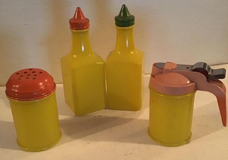 Vintage Medco Production Condiments Set