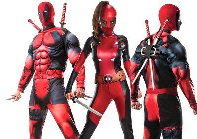 Adult DEADPOOL Fancy Dress Costume Superhero World Book Day Comic Mens Womens