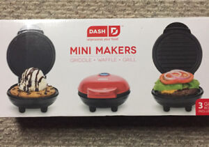 Mini Waffle, Griddle, and Grill
