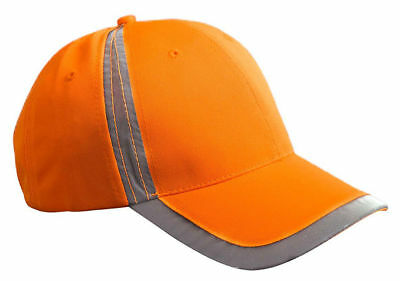 Big Accessories 6 Panel Reflective Accent Safety Baseball Ca