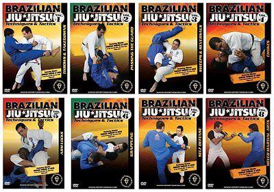 Brazilian Jiu-Jitsu Techniques and Tactics 8 DVD Set - Free Shipping