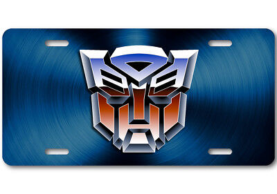 Transformers ART Autobot Color logo Aluminum Car Truck License Plate Tag Blue
