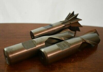 End Mill Degree Cutter High Speed - Lot Of 3