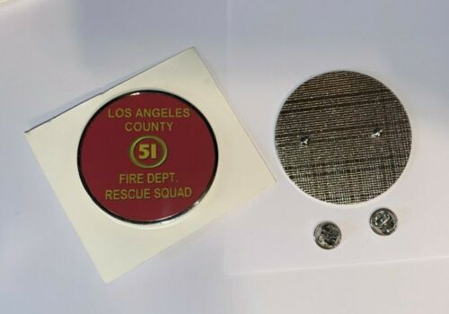 """Cool LA County  Squad 51  Fire fighters 2.25"""" Pin on Large Lapel Pin"""