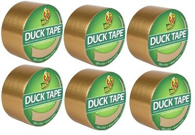 Case Of 6 Gold Metallic Duck Tape Duct Tape 10 Yd Rolls 280723 Free Shipping