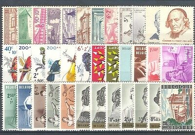 BE - BELGIUM 1962 complete year set MNH