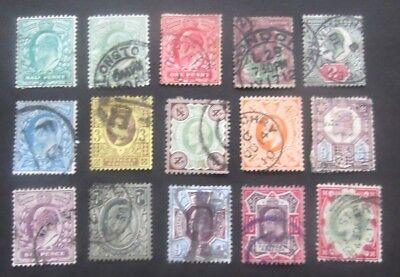 GB-1902/1913--Edward VII-Full set of 15-Used
