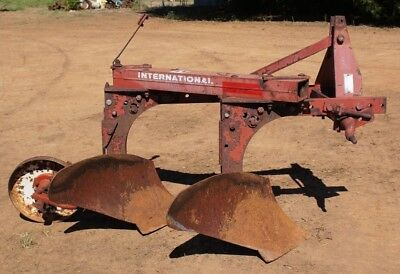 International Harvester 420 2 Bottom Plow 3pt Hitch Ih Super Chief On-land