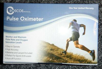 Roscoe Medical Finger Pulse Oximeter Oxygen Saturation Monitor