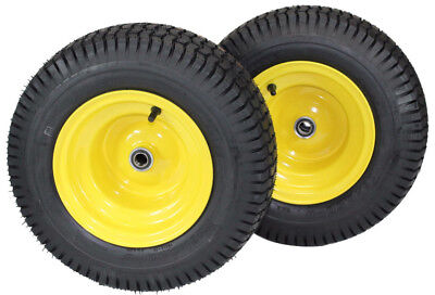 - (Set of 2) 16x6.50-8 Tires & Wheels 4 Ply for Lawn & Garden Mower Turf Tires *FR