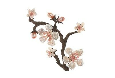 Cherry Blossom Brooch Pin by Michael Michaud for Silver Seasons #5791BZWP