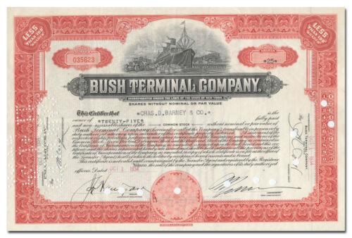 Bush Terminal Company Stock Certificate