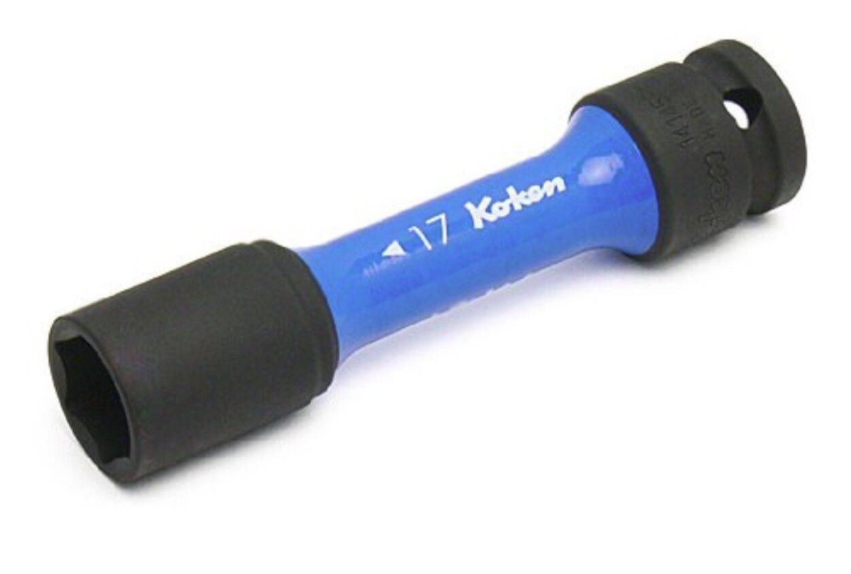 KOKEN / 1/2 INCH WHEEL NUT IMPACT SOCKET - 17mm / 14145PM110-17 / MADE IN JAPAN