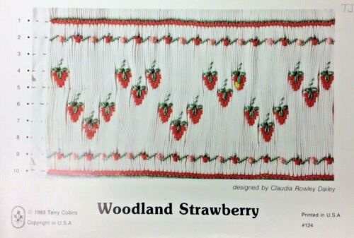 TERRY JANE SMOCKING PLATE #124 WOODLAND STRAWBERRY