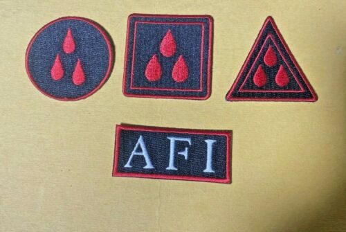 AFI 4 PATCH  The Blood Album  4 PATCH OFFICIAL MERCHANDISE NEW