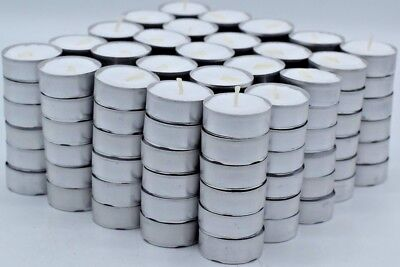 - Tea Light Candles 200 Pack 4 hours burn White Unscented