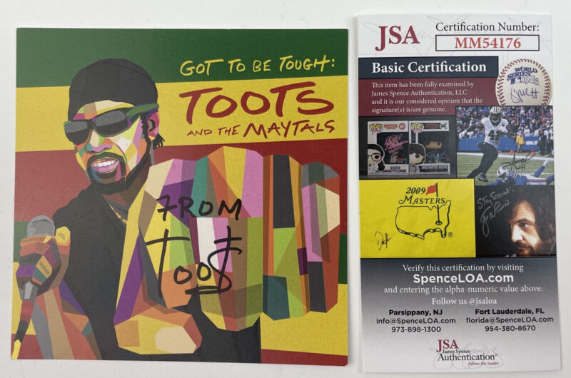 TOOTS signed CD Insert Cover and the Maytals Got to be Tough JSA Authentication