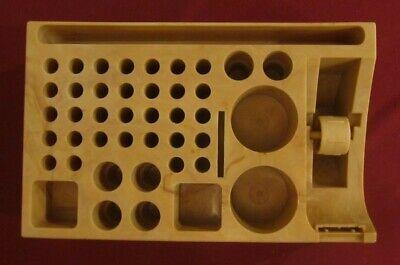Vintage Plastic Desk Organizer Marble Look Tape Dispenser Pens