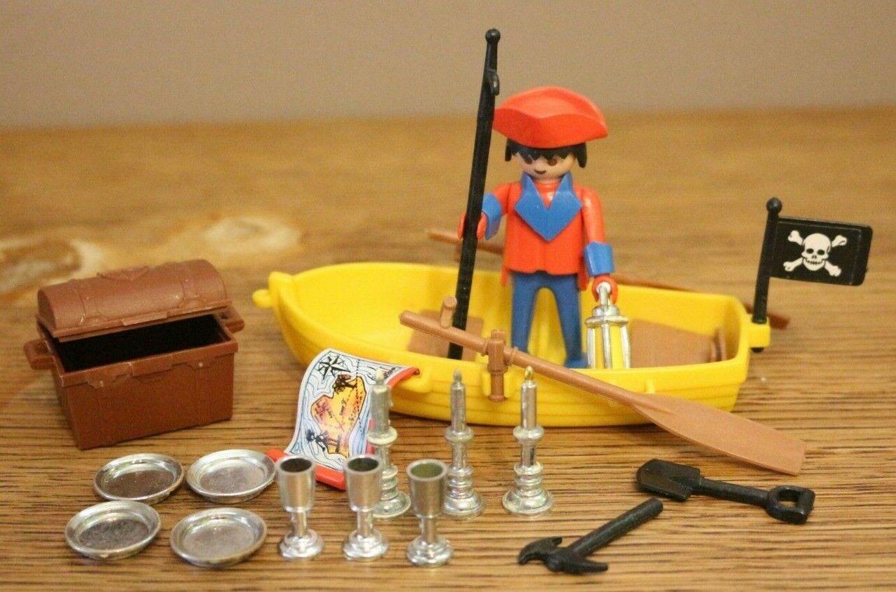 Playmobil 3570 pirates avec barque, coffre et accessoires