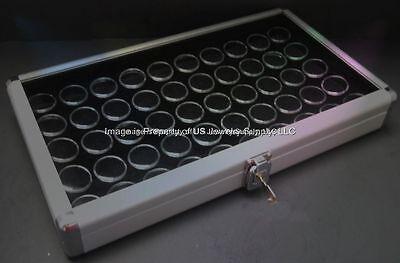 1 Locking Aluminum 50 State Quarter Set Display Organizer Storage Cases Box