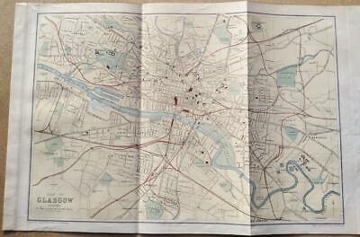 c1880; City plan of Glasgow; Scotland; Bartholomew