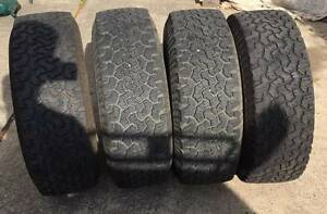 5 BFGoodrich tyres on land cruiser rims Blacktown Blacktown Area Preview