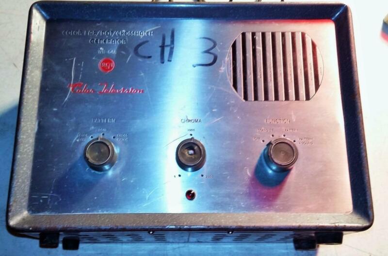 RCA Color Bar / Dot / Crosshatch Generator WR-64A 1960