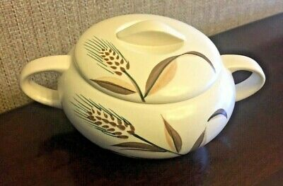 Fine China Sonata Kasuga Japan Wheat LIDDED SUGAR BOWL Gorgeous Great Condition