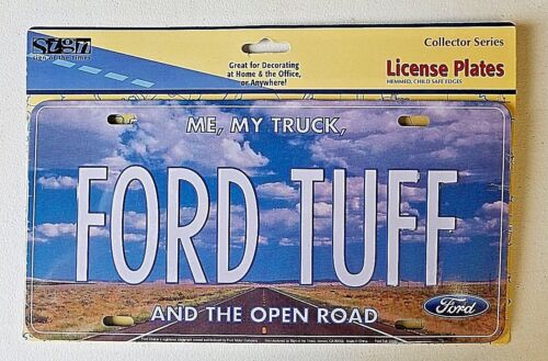 Ford Tuff Novelty Car Truck License Plate Retro Metal Auto Tag Collector Series