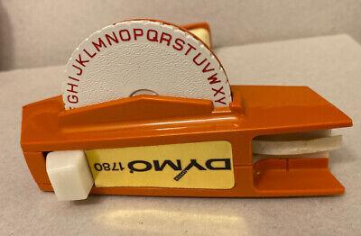 Vintage Dymo Label Maker Model 1780 Orange Label Printer Tested Working 14 38